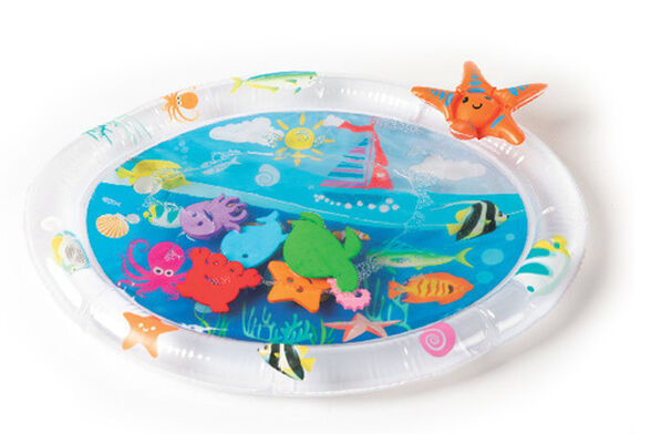משטח מים תחושתי אליפטי לתינוק - חיות ים, , large image number null