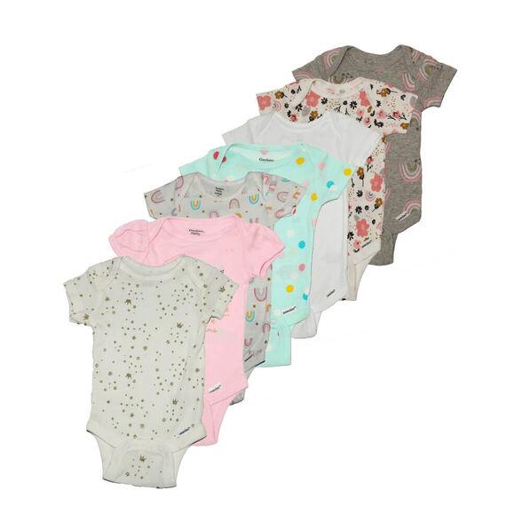 שביעיית בגדי גוף לתינוקות של המותג העולמי Gerber, , large image number null