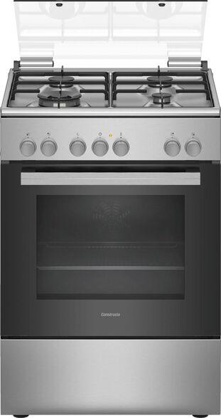 תנור אפייה משולב כיריים גז בנפח 66 ליטר בעיצוב נירוסטה מבית CONSTRUCTA דגם CH9M10H50Y  , , large image number null