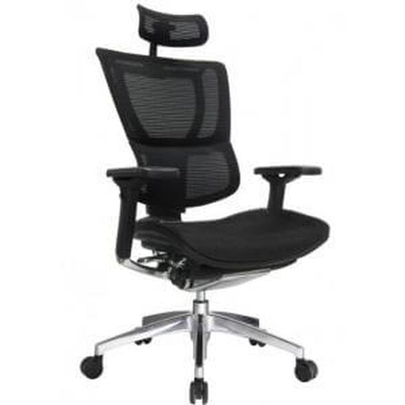 כסא עבודה ארגונומי ואורטופדי לישיבה ממושכת של עד 14 שעות דגם MIRUS PLUS עם משענת רגליים מבית COMFORT, , large image number null