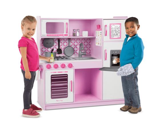 מטבח עץ מפואר מבית מליסה אנד דאג   המטבח מכיל את כל מה שצריך בשביל משחק מהנה   בצבע ורוד   משלוח חינם!, , large image number null
