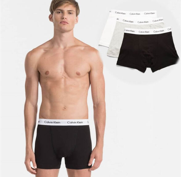מארז 3 תחתוני בוקסר Calvin Klein לגבר   קולקציה חדשה   מידות S-XL   מארז נוסף בהנחה גדולה, , large image number null