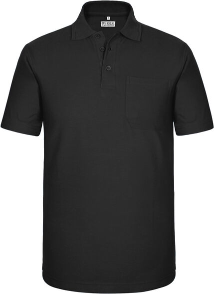חולצת פולו שרוול קצר עם כיס בצבע שחור | מגוון מידות לבחירה, , large image number null