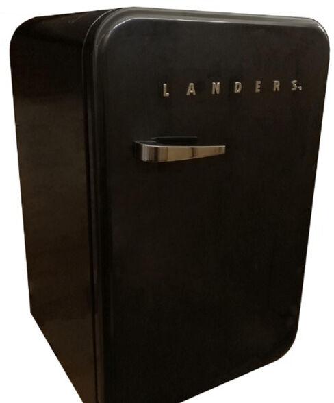 מקררלבית או למשרד נפח 115 ליטר בעיצוב רטרו כולל ידית נירוסטה מבית LANDERS דגם LA130R _שחור, , large image number null