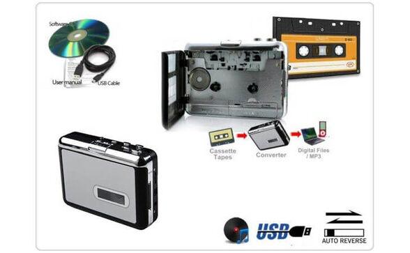 טייפ קלטות בחיבור USB למחשב להמרת קלטות אודיו ישנות ל- MP3 -הפתרון המושלם ! , , large image number null