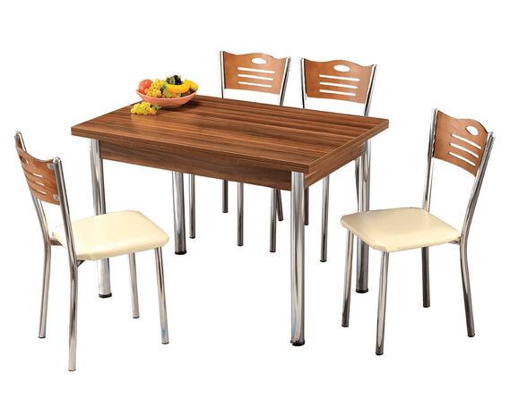 פינת אוכל מעוצבת שולחן נפתח + 4 כיסאות מבית PLANERO, , large image number null