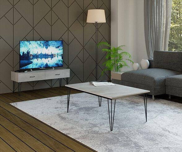 מזנון ושולחן לסלון מבית House Design ייצור ישראלי כחול לבן דגם מיקונוס, , large image number null