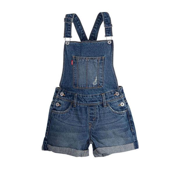 אוברול ג'ינס ליוויס Girls Vintage Shortall לילדים ונוער, , large image number null