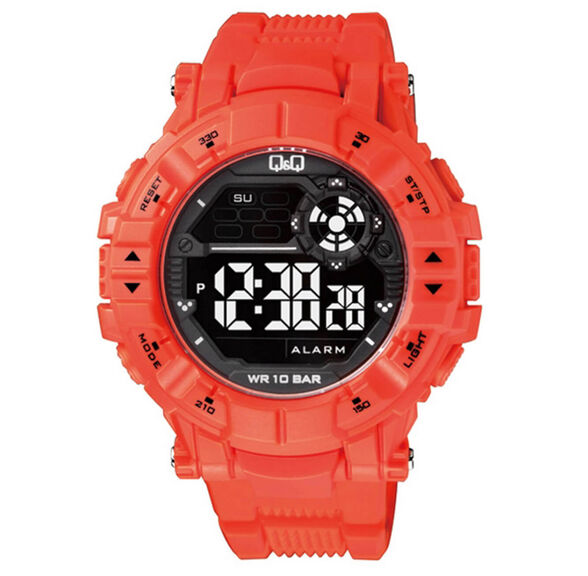 שעון יד דיגיטלי דגם QS-M152J004Y מבית Q&Q עם סטופר, תאורה, שעון מעורר, טיימר ותצוגת שני זמנים, , large image number null