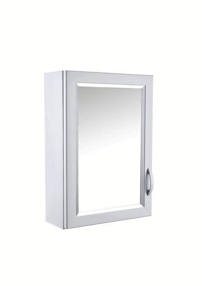 ארון תליה דלת אחת מיועד למקומות צרים וארון תרופות מבית יהלום דגם 159 | צבע לבן, , large image number null