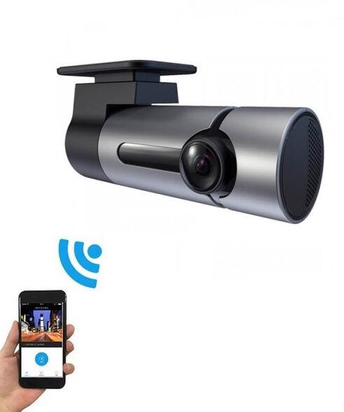 מצלמת דרך נסתרת חכמה לרכב חיבור WIFI לנייד תמיכה ב- IPHONE/ANDROID עובד במצב חניה   זווית צילום 170°   FULL HD , , large image number null