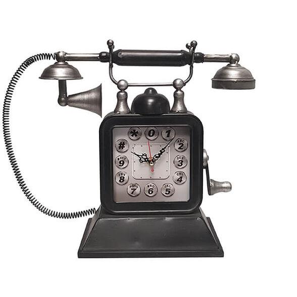 שעון שולחני בעיצוב רטרו בצורת טלפון עתיק, , large image number null