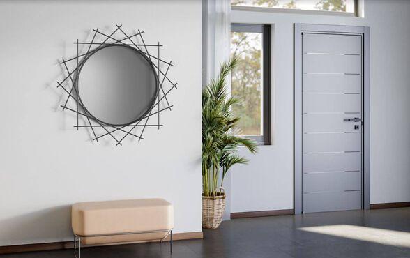 מראת קיר גדולה דגם טמפה   RAZCO_מתכת מושחרת, , large image number null