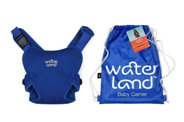 Waterland מנשא חדשני דו שימושי - המיועד לשימוש במים וביבשה! | עשוי בד ניאופרן | מגיל 4 חודשים עד גיל שנתיים | צבעים לבחירה_צבע כחול, , large image number null