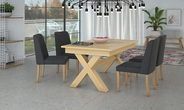 שמרת הזורע: פינת אוכל נפתחת דגם מיקס מידה 140/90 ס''מ כולל 4 כיסאות עדן | גוון כיסאות לבחירה, , large image number null
