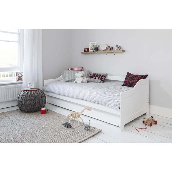 מיטת ילדים הכוללת מיטה עליונה, מיטת חבר נשלפת מעקה בטיחות ו-2 מזרנים אורתופדיים דגם TUTTI, , large image number null