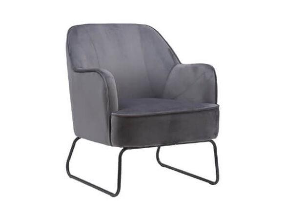 כורסא מעוצבת ונוחה עם רגלי ברזל HOME DECOR דגם לידס _אפור, , large image number null
