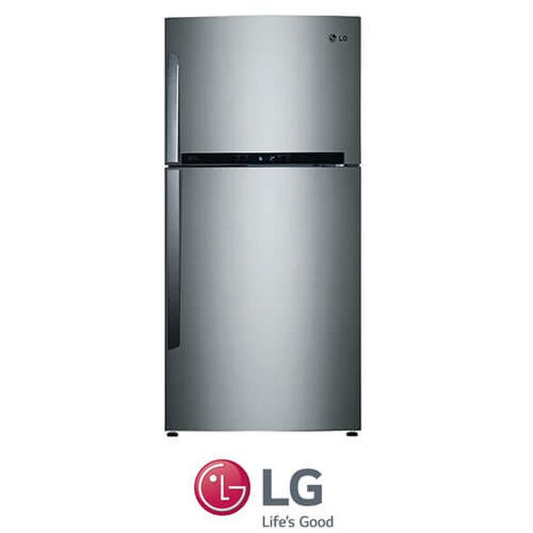 מקרר LG מקפיא עליון בנפח 596 ליטר No Frost עם מנוע אינוורטר חסכוני תאורת LED דירוג אנרגיה A בגימור נירוסטה דגם GR-M6981S   , , large image number null