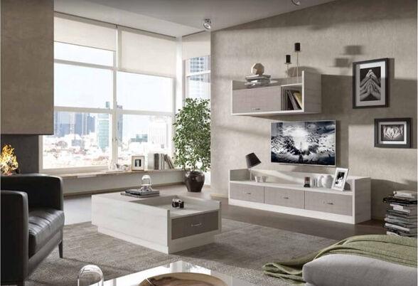 מזנון ושולחן לסלון מבית House Design ייצור ישראלי כחול לבן דגם בטומי, , large image number null