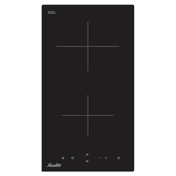 כיריים זכוכית קרמיות SCHOTT GLASS | 2 מוקדי בישול עם 9 דרגות חום | דגם SCH-202 מבית SAUTER , , large image number null