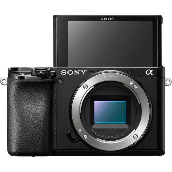 מצלמת מירורלס (ללא מראה) גוף בלבד 24.2 מגה פיקסל , מעבד תמונה Bionz X וזום דיגיטלי וידיאו X4 מבית SONY דגם ILC-E6100B , , large image number null
