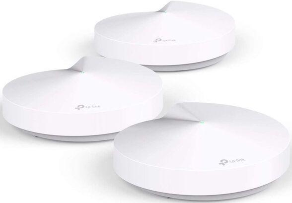 מגדיל טווח אלחוטי TP-Link 802.11ac AC1300 Whole-Home Mesh System Deco M5 - שלוש יחידות באריזה , , large image number null