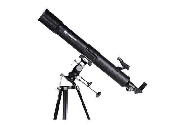 טלסקופ אסטרונומי לצפייה בכוכבים ובירח מגיע גם עם פילטר שמש חצובת MULTI וכוונת לד Bresser TAURUS X45-, , large image number null