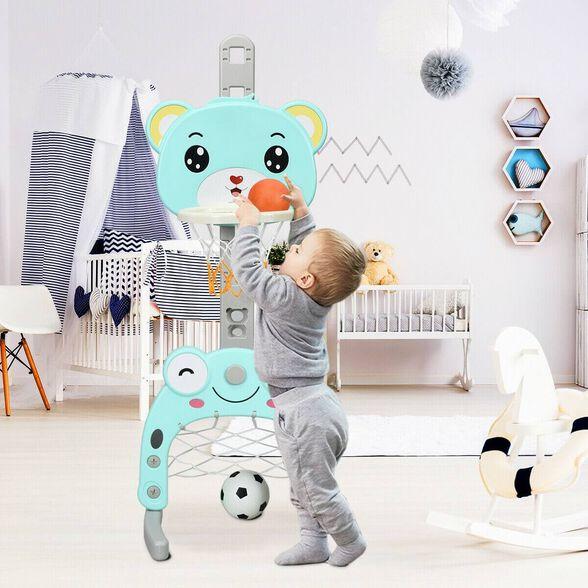 מתקן סל משולב שער כדורגל לילדים דגם TANTAN, , large image number null