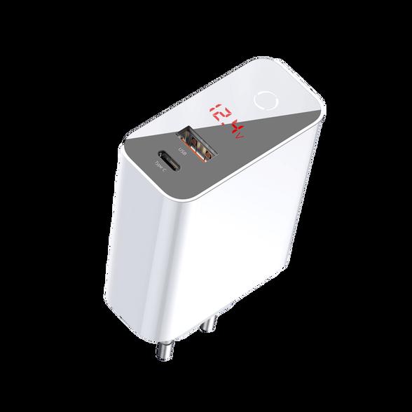 מטען מהיר 45W PD+QC3 + צג צבע לבן מבית Baseus, , large image number null