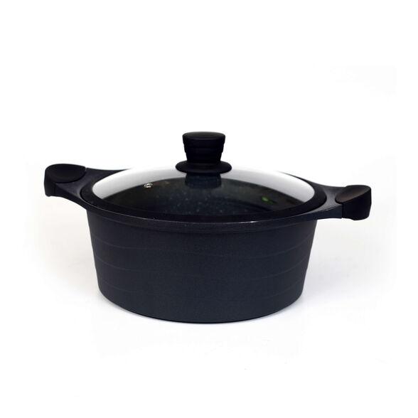 """סיר שחור 2.8 ליטר 20 ס""""מ בציפוי 4 שכבות שיש של cucina mia, , large image number null"""