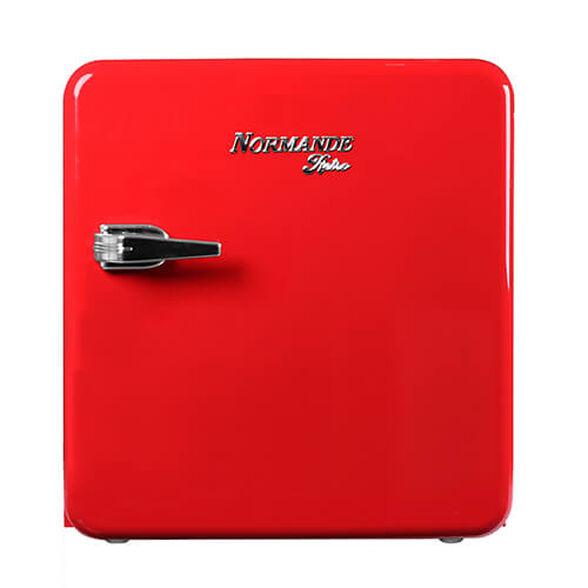 מקרר משרדי רטרו 50 ליטר De-Frost מבית NORMANDE דגם ND 56 _אדום, , large image number null