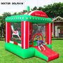 מתקן מתנפח לילדים לחצר   צבעים ירוק אדום לבן