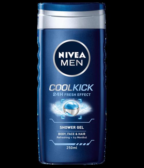 סט 6 בקבוקי ג'ל רחצה לגבר מבית NIVEA  המעניק תחושת רעננות עד 24 שעות | דגם לבחירה, , large image number null
