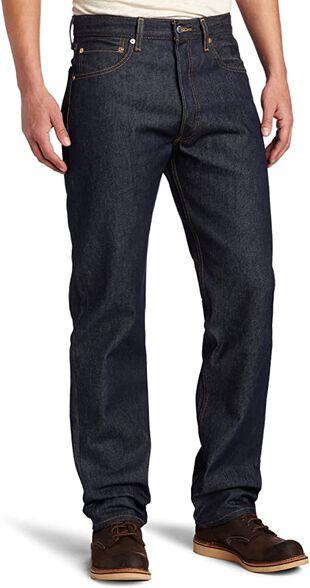 ג'ינס ליוויס לגבר דגם 501  גזרה ישרה  אורך L.34, , large image number null
