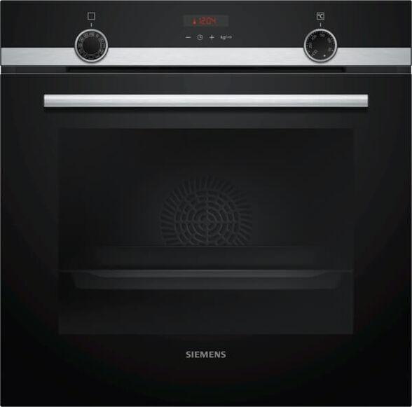 """תנור בנוי פירוליטי  תוצרת גרמניה  71 ליטר בעיצוב שחור עם נירוסטה מסדרת iQ300 תוצרת SIEMENS דגם HB574ABR0Y    הטבה לרוכשים   4 שנות אחריות נוספות בתוספת 199 ש""""ח בכפוף לתקנון  , , large image number null"""