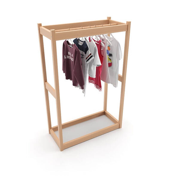 מתלה בגדים מעץ מלא לילדים מבית BIENWOOD, , large image number null