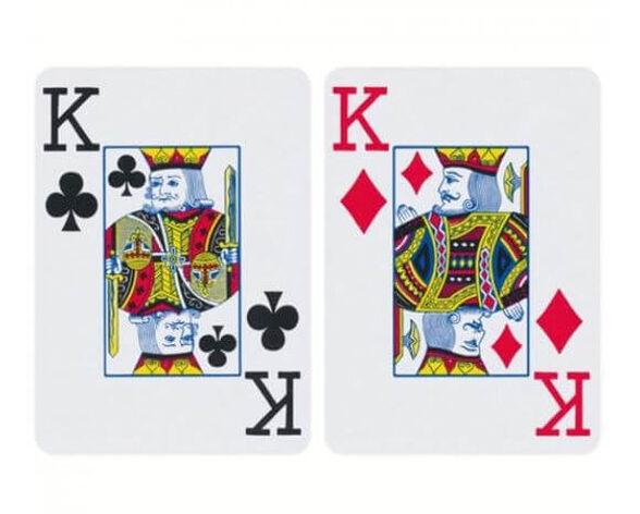 קלפים 100% פלסטיק למשחק פוקר / הולדם תוצרת איטליה, , large image number null
