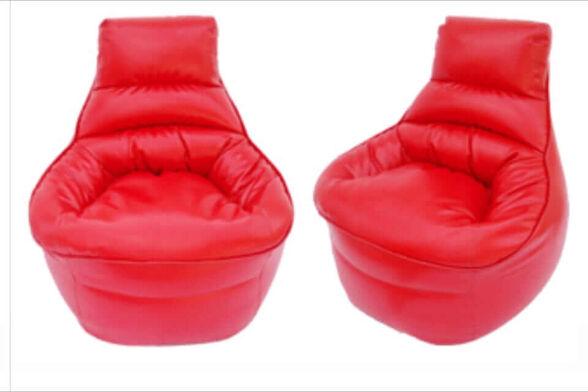 פוף כורסא ענק דמוי עור מבית KALGO_אדום, , large image number null