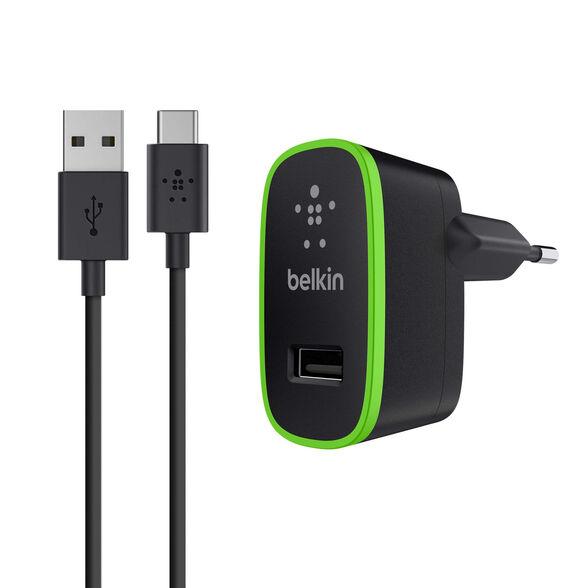 מטען קיר עם כבל ניתק USB-C דגם Belkin F7U001vf06-BLK, , large image number null