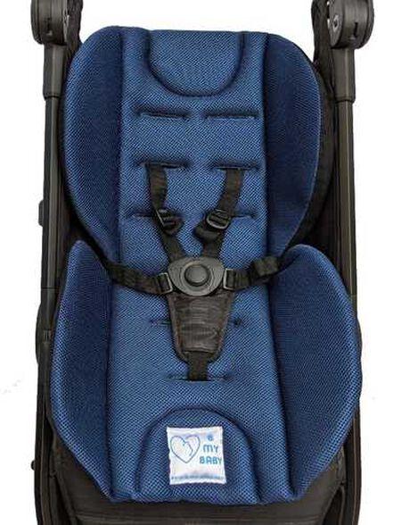מזרון פרפר נושם ומדף זיעה לעגלת תינוק - כחול כהה, , large image number null