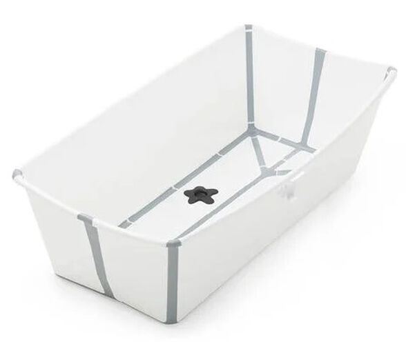 Flexi Bath X-large אמבטיה מתקפלת גדולה לשימוש בבית ובנסיעות - לבן/אפור, , large image number null