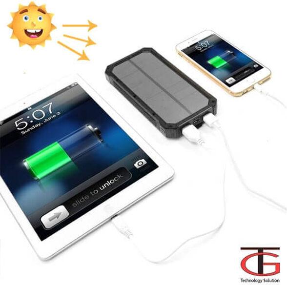 מטען סולארי מהיר עם סוללה נטענת לטלפונים סלולארים טאבלטים,נגני MP3/4 מצלמות ועוד.., , large image number null