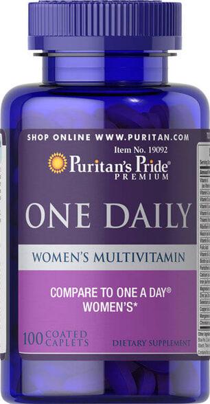 מולטי-ויטמין יומיומי לנשים   אריזת 100 טבליות   יחידה שנייה בהנחה נוספת, , large image number null