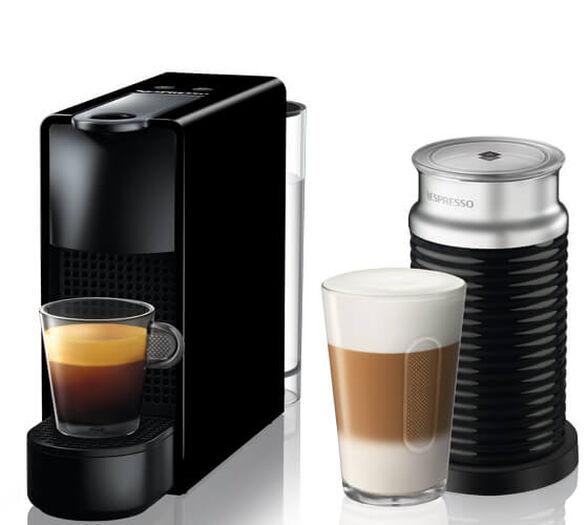 מכונת קפה Nespresso אסנזה מיני בצבע שחור דגם C30 כולל מקציף חלב ארוצ'ינו , , large image number null