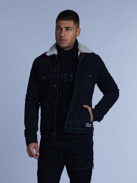ג'קט ג'ינס עם צווארון פרווה, , large image number null