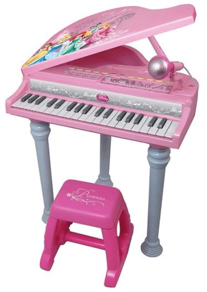 פסנתר כנף נסיכות ורוד-דיסני | כולל מיקרופון קריוקי+ מעמד לפסנתר+ כסא | משלוח חינם!, , large image number null