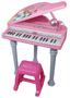 פסנתר כנף נסיכות ורוד-דיסני | כולל מיקרופון קריוקי+ מעמד לפסנתר+ כסא | משלוח חינם!
