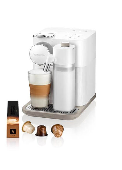 מכונת קפה NESPRESSO גראן לטיסימה בגוון לבן דגם F531   5 שרוולי קפה מתנה ברכישת מכונת קפה NESPRESSO  מסדרת ORIGINAL עם פתרון חלב בלבד , , large image number null