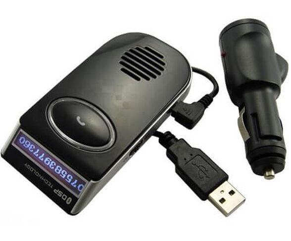דיבורית בלוטוס לרכב סולארית כולל צג שיחה LCD , , large image number null