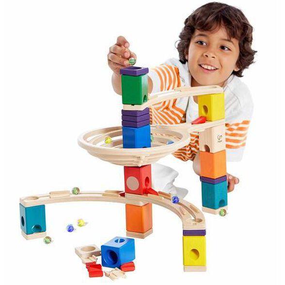 משחק מדרון גולות 28 חלקים מעץ ו 30 גולות, , large image number null